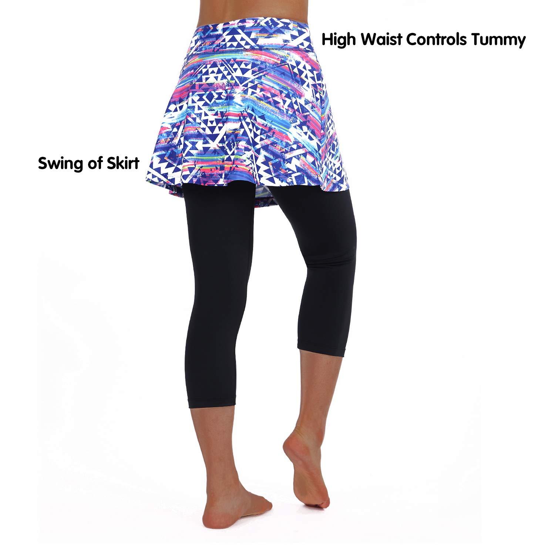 ANIVIVO Leggings de Tenis con Falda para Mujer W2282149Colorful-S ...