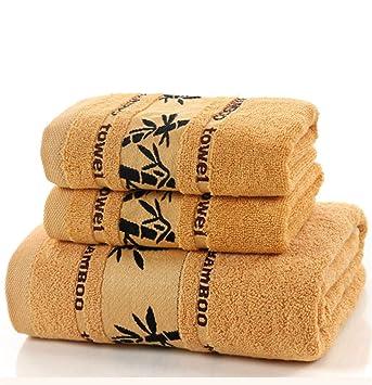 HHXWU Toallas de baño, Toallas, Toallas de Playa, Toalla de Fibra, Dos Toallas, marrón: Amazon.es: Hogar