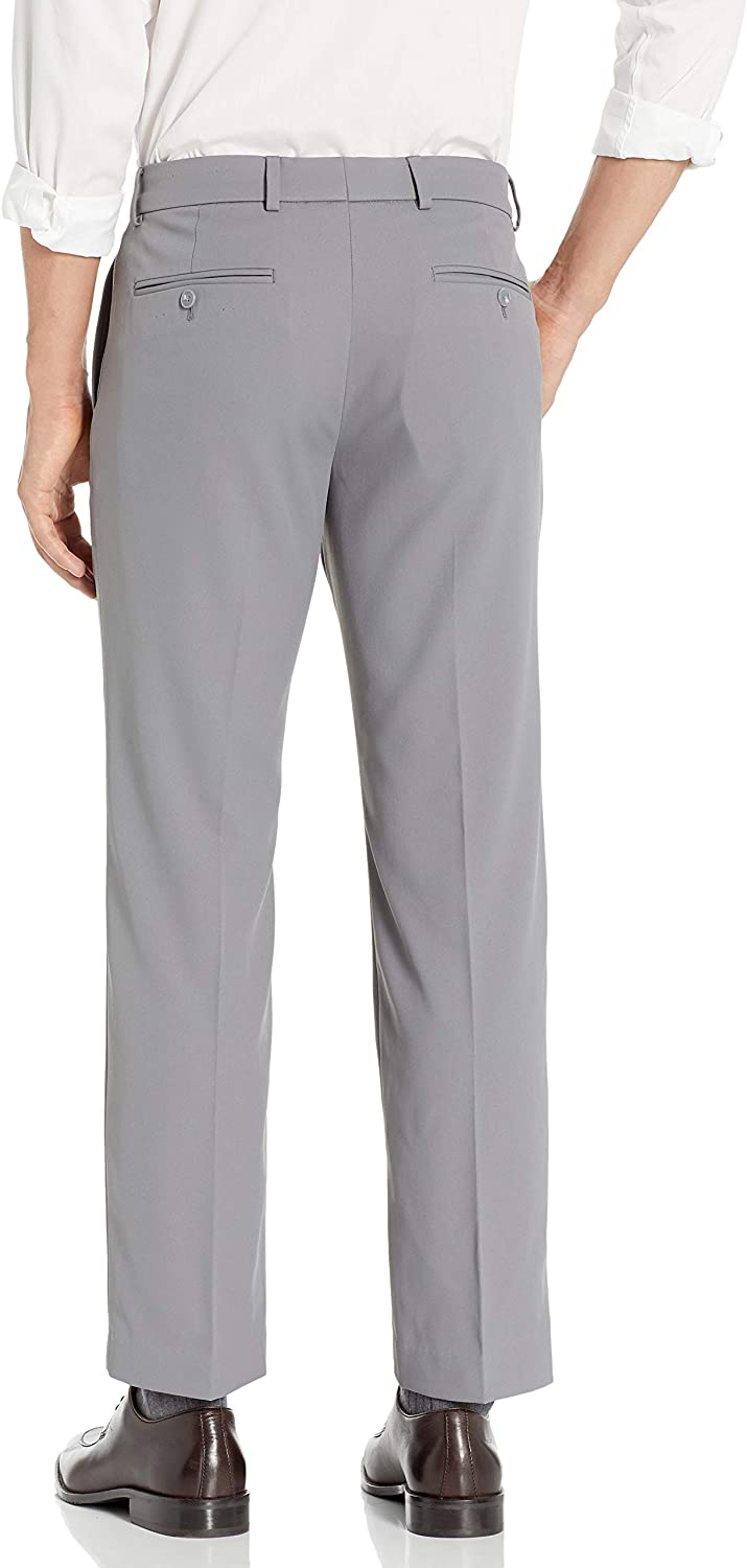 Dockers Mens Flat Front Dress Trousers with Stretch Dress Pants
