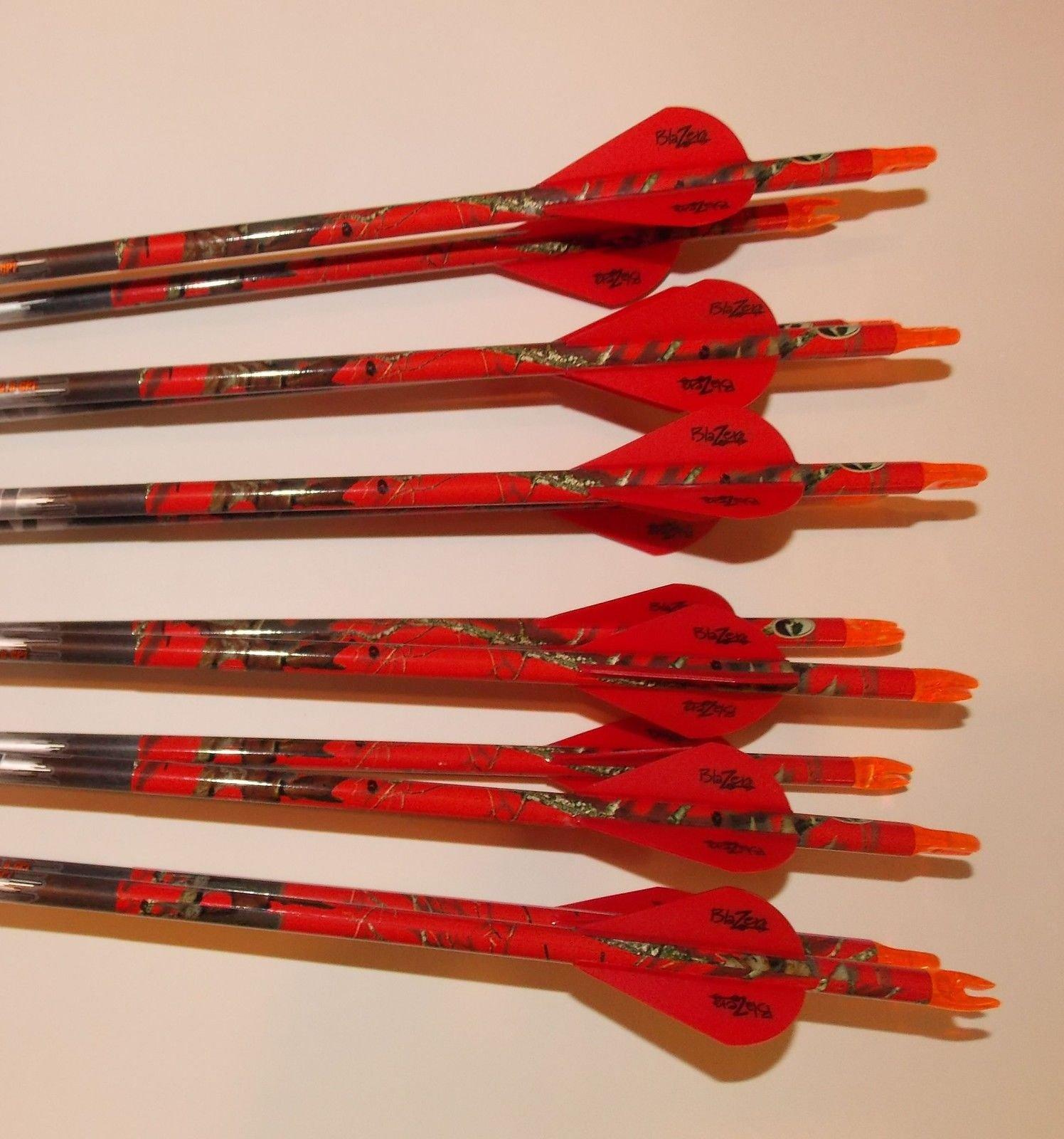 Easton ST Axis Full Metal Jacket Arrows 300/340/400/500 w/Blazer Vanes Blaze Wraps 1Dz.
