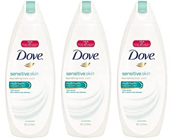 Amazon Com Dove Sensitive Skin Nourishing Body Wash Unscented 22 Oz Pack Of 4 Beauty
