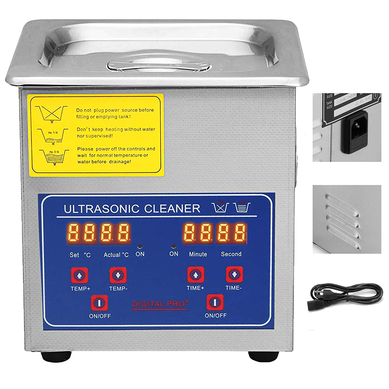 VEVOR Commercial Ultrasonic Cleaner 1.3L Ultrasonic Cleaner for Cleaning Eyeglasses Rings Large Capacity Heated Ultrasonic Cleaner
