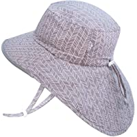JAN & JUL GRO-with-Me Cotton Adventure Hat   50+ UPF Adjustable Toddler Sun Hat for Baby and Kids