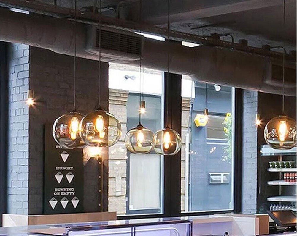 Cozyle Weinlese-Anhänger-hängendes Licht Glas Schatten Grau: Amazon ...
