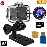 FabQuaity Wasserdichte Mini Nachtsicht Kamera SQ 12 HD-BONUS 16-GB-SD-Karte, Sport Action Kamera Camcorder 1080P DV Video Recorder Infrarot Auto DVR Kamera Motion Detection für Fahrrad Ski Tauchen etc Mini kamera