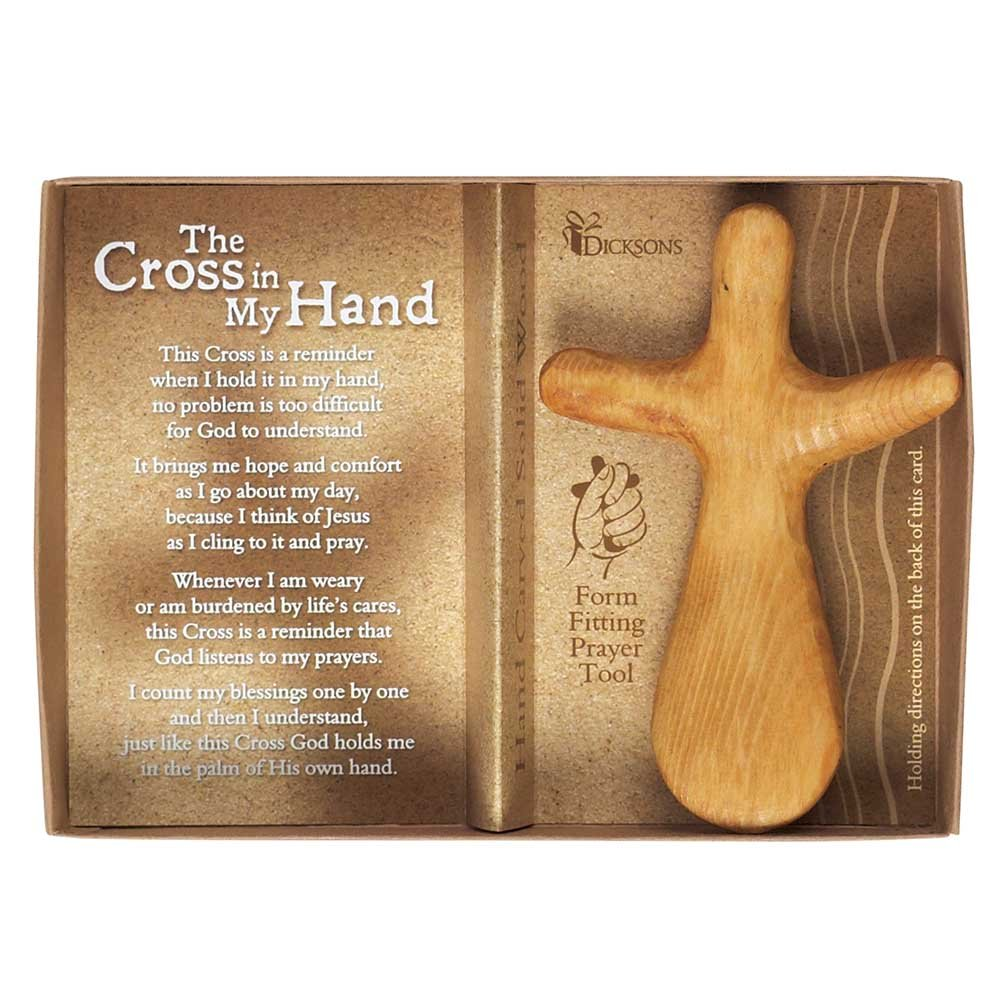 Cross in My Hand Pinewood 5 x 7 Wood Hand Carved Cross Figurine Dicksons NCW-100