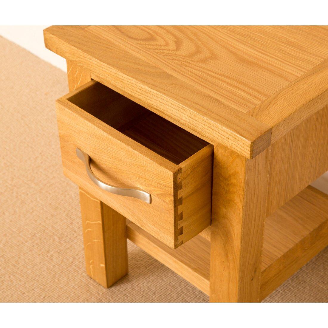 Oak lamp tables image collections coffee table design ideas newlyn oak side table light oak lamp table with drawer solid newlyn oak side table light geotapseo Gallery