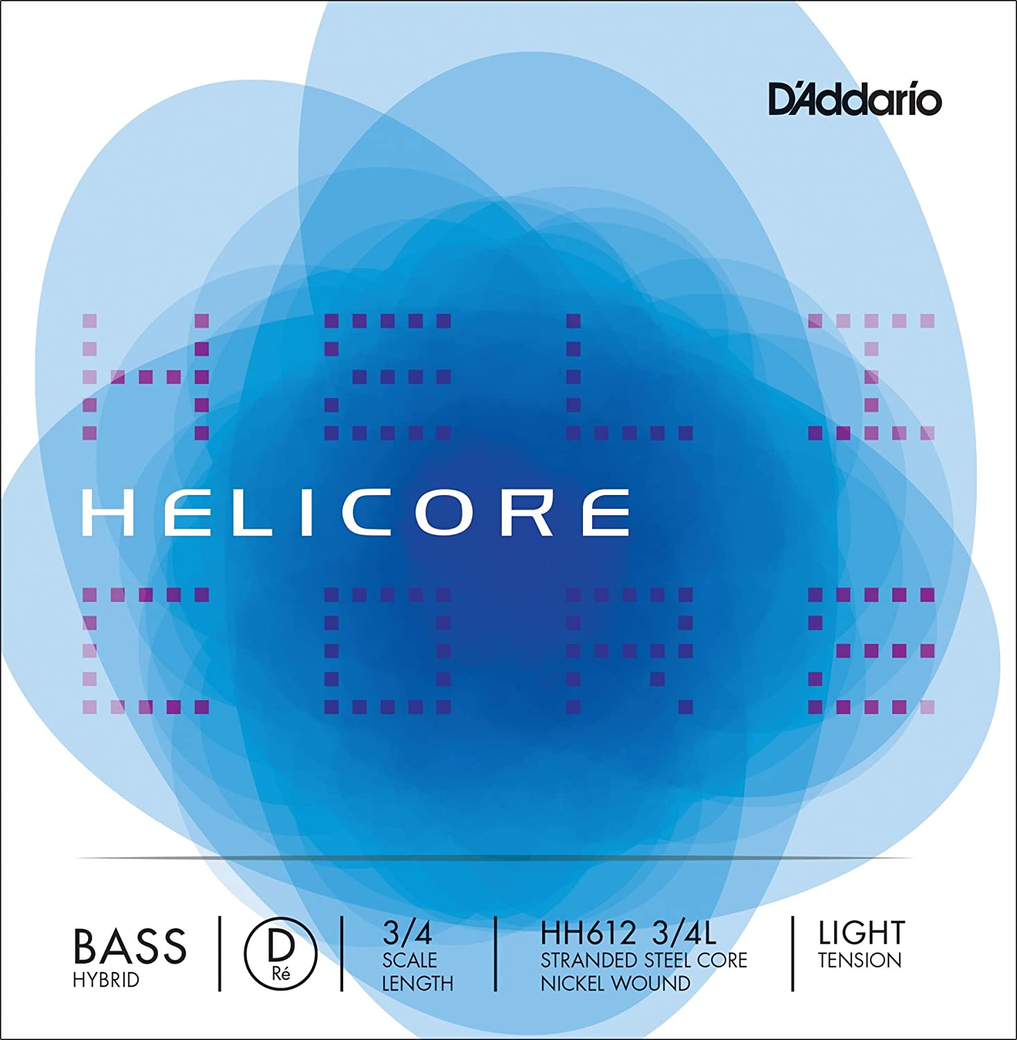 D'Addario Helicore Hybrid Bass Single D String, 3/4 Scale, Medium Tension D'Addario HH612 3/4M