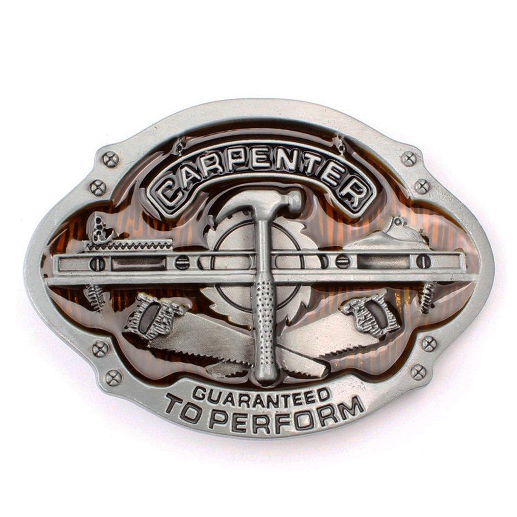 Balabalam Cool Men Carpenter Belt Buckles Western Design in Zinc Alloy Material for Men BKL131