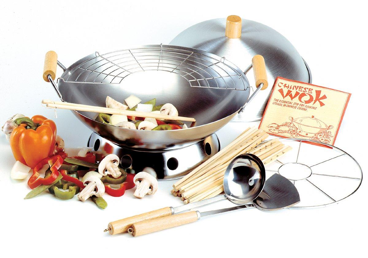 Amazon.com: Norpro 10-Piece Wok Set: Woks And Stir Fry Pans ...