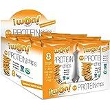 8 x Glutenfreie Protein Chips, 52gr pro Tüte, 20gr organic Proteine, glutenfrei, natural, healthy (Cinnamon/ French Toast)