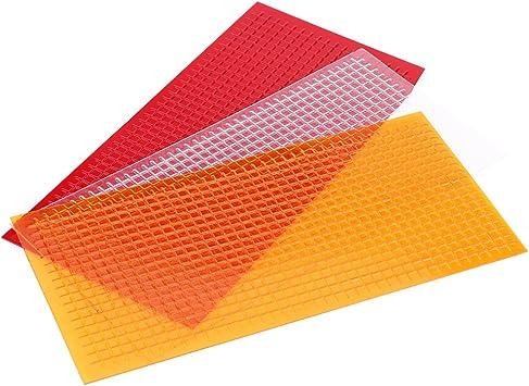 Keenso Auto Rücklicht Reparatur Kit Auto Rücklichter Blinker Rissreparatur Tool Autolinsen Rissreparatur Film Rot Bernstein Transparent Auto