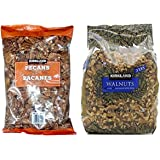 Kirkland Signature Pecan and Walnuts Bundle - Includes Kirkland Signature Pecan Halves (2.0 LB) and Walnuts (3 LB)