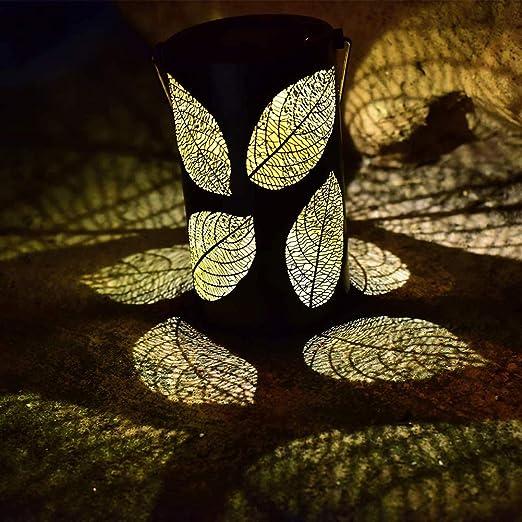 qwqqaq Grande Farol Solar,Colgando Al Aire Libre Lámparas Solares,Impermeable Metal Luz Jardín,LED Mesa Luces del Paisaje Q 11x11x19cm(4x4x7inch): Amazon.es: Hogar