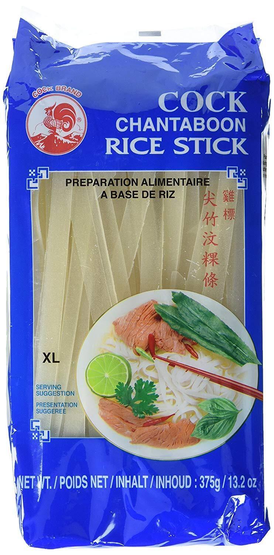 Fideos de arroz de gallos, 10 mm, 1ª calidad, (paquete de 375 g ...