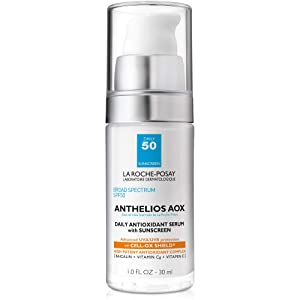 La Roche-Posay Anthelios AOX Face Sunscreen SPF 50 Daily Antioxidant Face Serum with Sunscreen