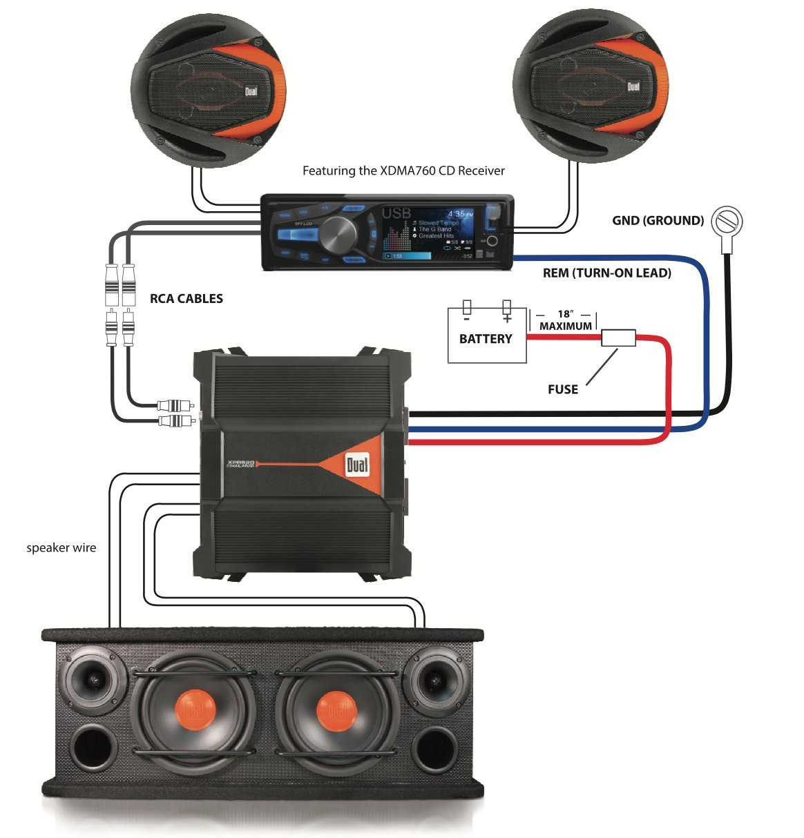 717eJMYhfkL._SL1214_ dual sbx6502 2 way full range speaker box with two 6 5 inch dual xdma760 wiring diagram at webbmarketing.co