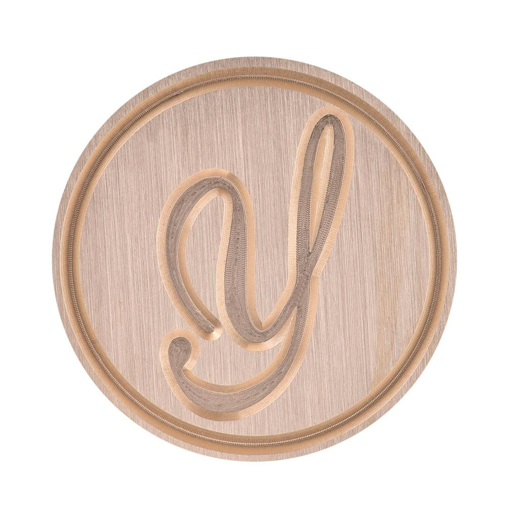 with A-Z Letter Ridecle Wax Seal Stamp with Classic Wooden Handle /& Antique Brass Head Romantic Color Picture Love Logo for Wedding,Love Letter,Invitation