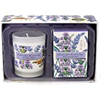 Michel Design Works Lavender Rosemary Candle and Soap Gift Set, Lavender Rosemary