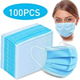 FLOLESS Protection Face Masks, 3-Ply, Earloop, Sealed in a Bag of (100 Pieces),Fast delivery
