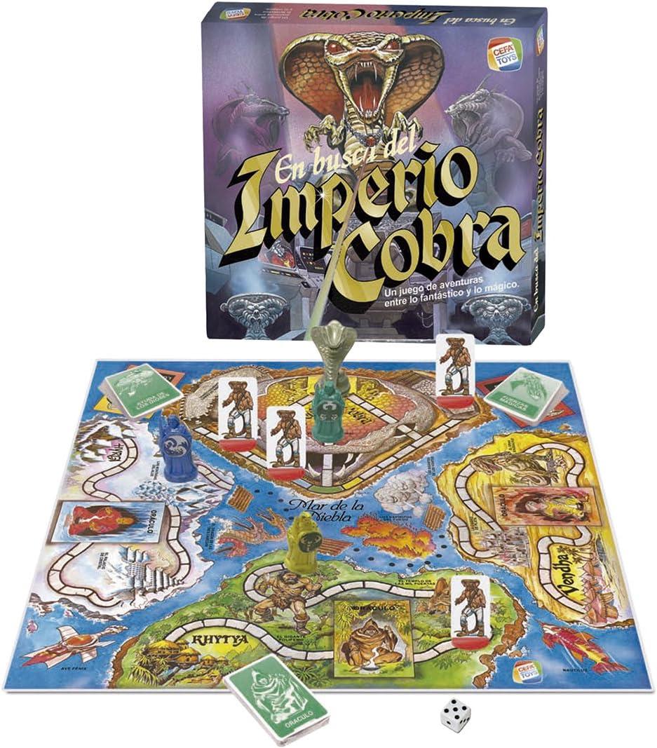 CEFA Toys - En busca del Imperio Cobra Vintage (Juego de mesa)