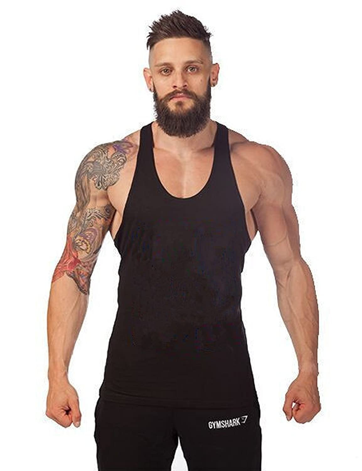 Bestgift Men\'s Sleeveless Cotton Tank Top BSGFNC0236