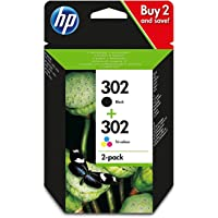 HP X4D37AE 302 Original Ink Cartridges Black and Tri-Colour (Cyan, Magenta, Yellow), Pack of 2