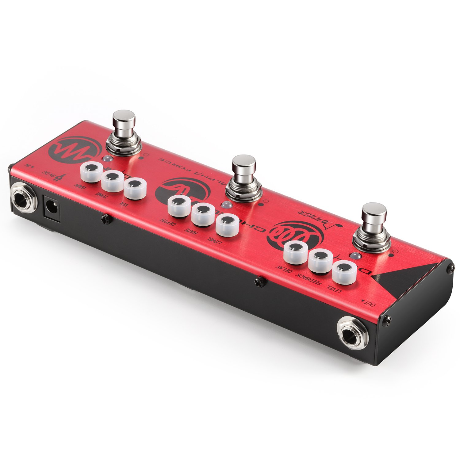 donner multi guitar effect pedal alpha force 3 in 1 effects delay chorus high gain distortion. Black Bedroom Furniture Sets. Home Design Ideas