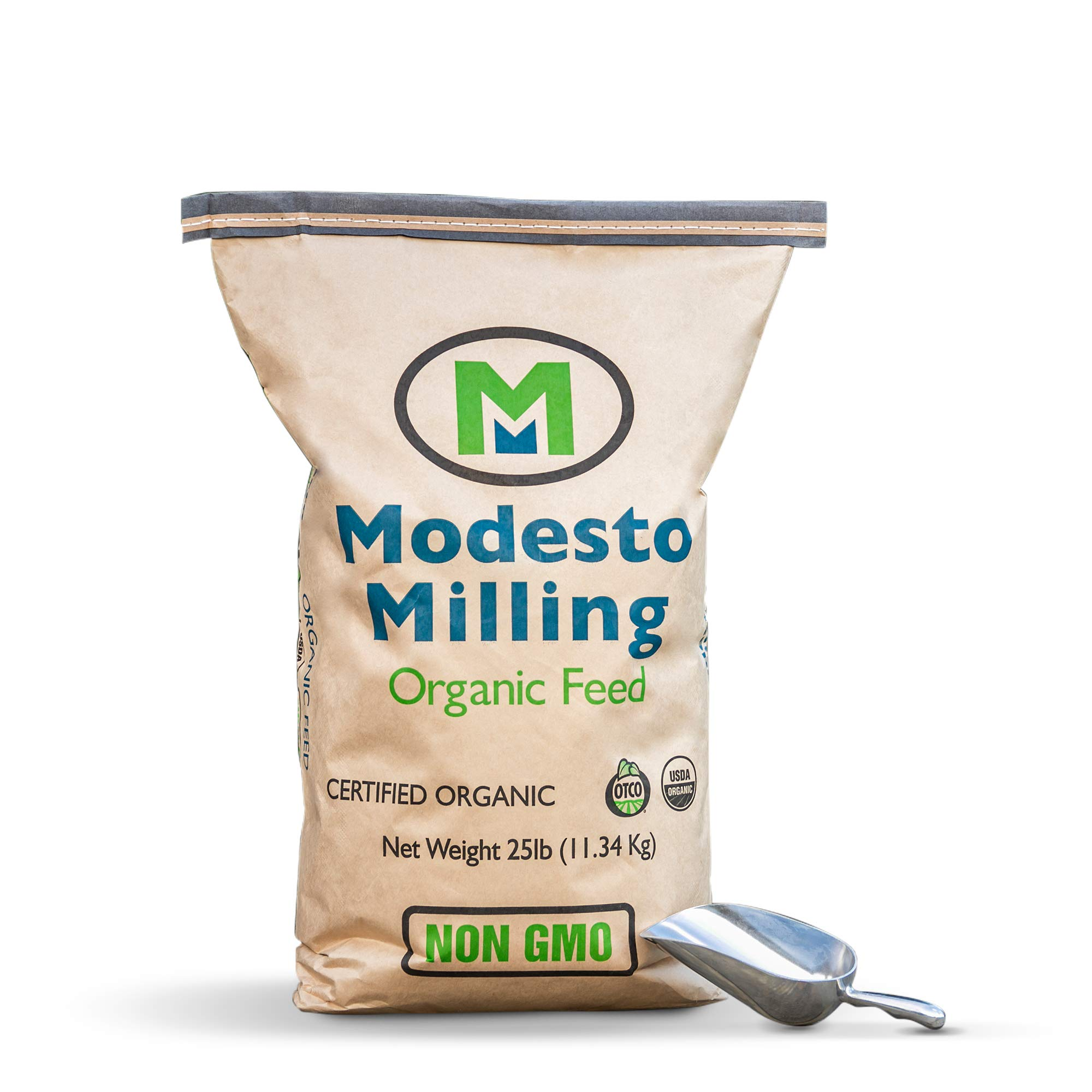 Modesto Milling Organic Horse Plus Textured Feed Blend 25 lbs; Item# 673 by Modesto Milling