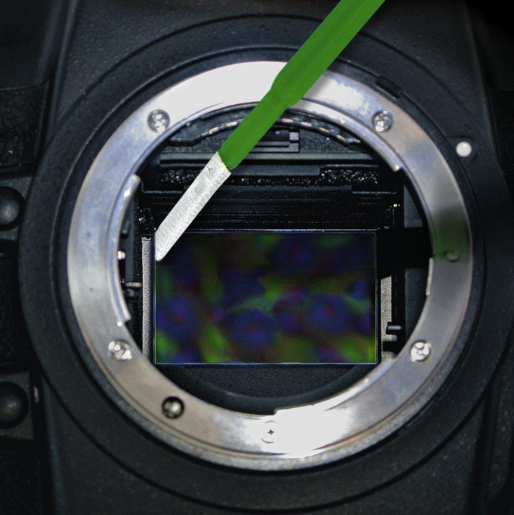 16 mm 12 per Pack with Bonus CurVswab and Corner Swabs Sensor Cleaning swabs Vswabs MXD-100 Green 1.6X