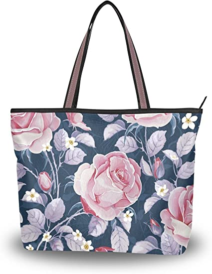 modern minimalist womens accessories White open rose flower in black stiped diamond shape printed on Eco Tote Bag