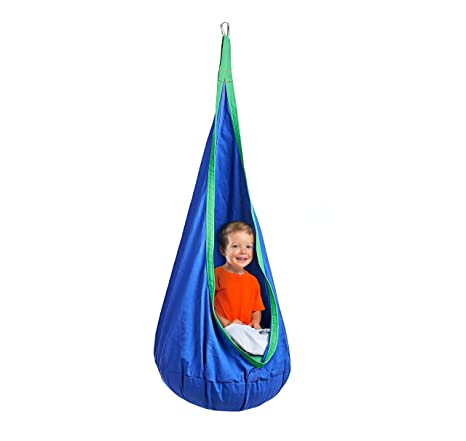 Decor Hut Hanging Pod Chair Indoor/Outdoor Hammock With Inflatable Pillow 2  Great Colors,