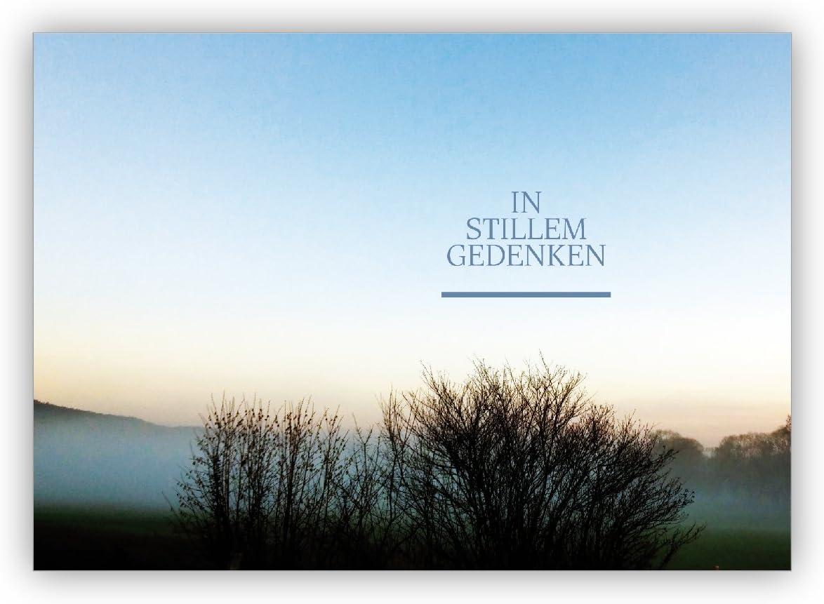 Wunderschöne Foto Trauerkarte/Kondolenzkarte mit Traum Landschaft ...