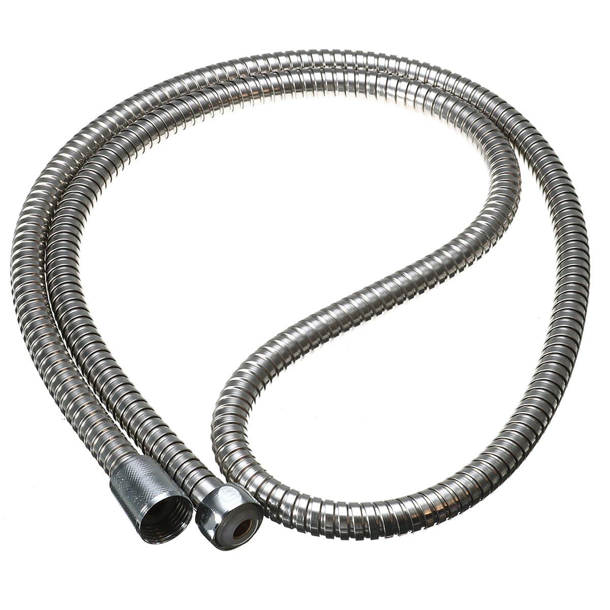 ZHENWOFC Tubo flessibile del riscaldatore di bagno del tubo flessibile della testa di doccia di Chrome dell'acciaio inossidabile di 1.5m componenti hardware Prezzi offerta