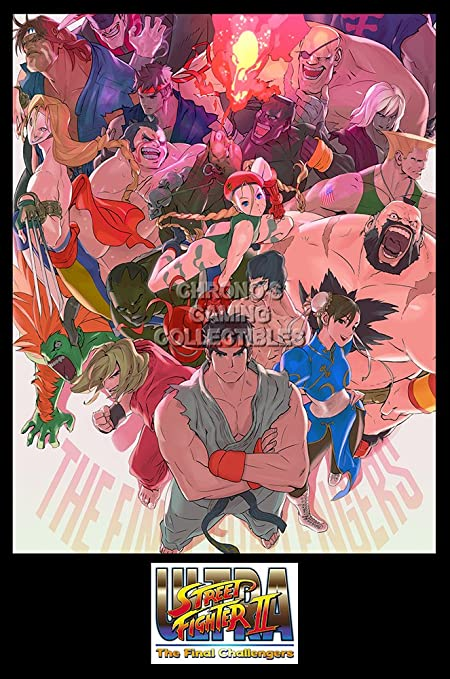CGC Huge Poster - Ultra Street Fighter II The Final Challengers Nintendo  Switch - EXT697 (24