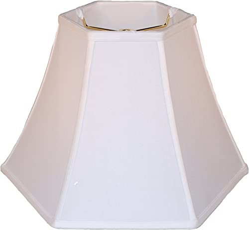 16 Anna white hexagon bell silk lamp shade