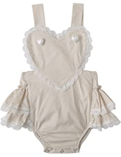 bba2ae6bf205e Amazon.com: Inflant Baby Girls Clothing Gradient Ruffle Cross Back ...