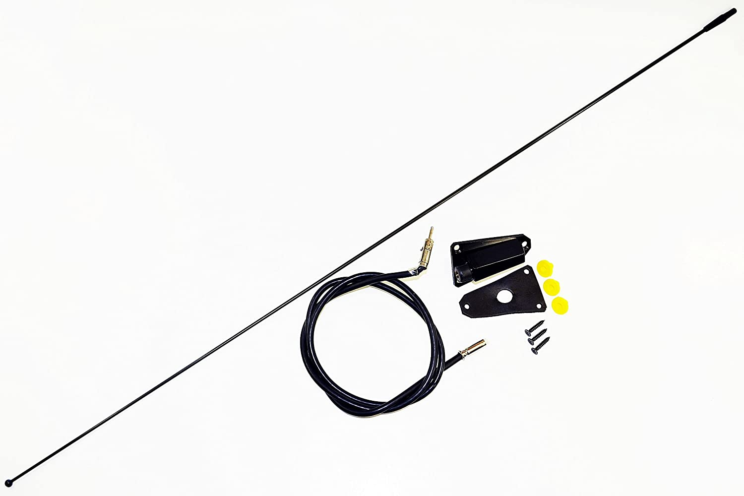 Antennamastsrus Black Replacement Antenna Is Wiring Harness Clips 1978 Cj Compatible With Jeep 1976 1995 Wrangler 1985 1996 Automotive