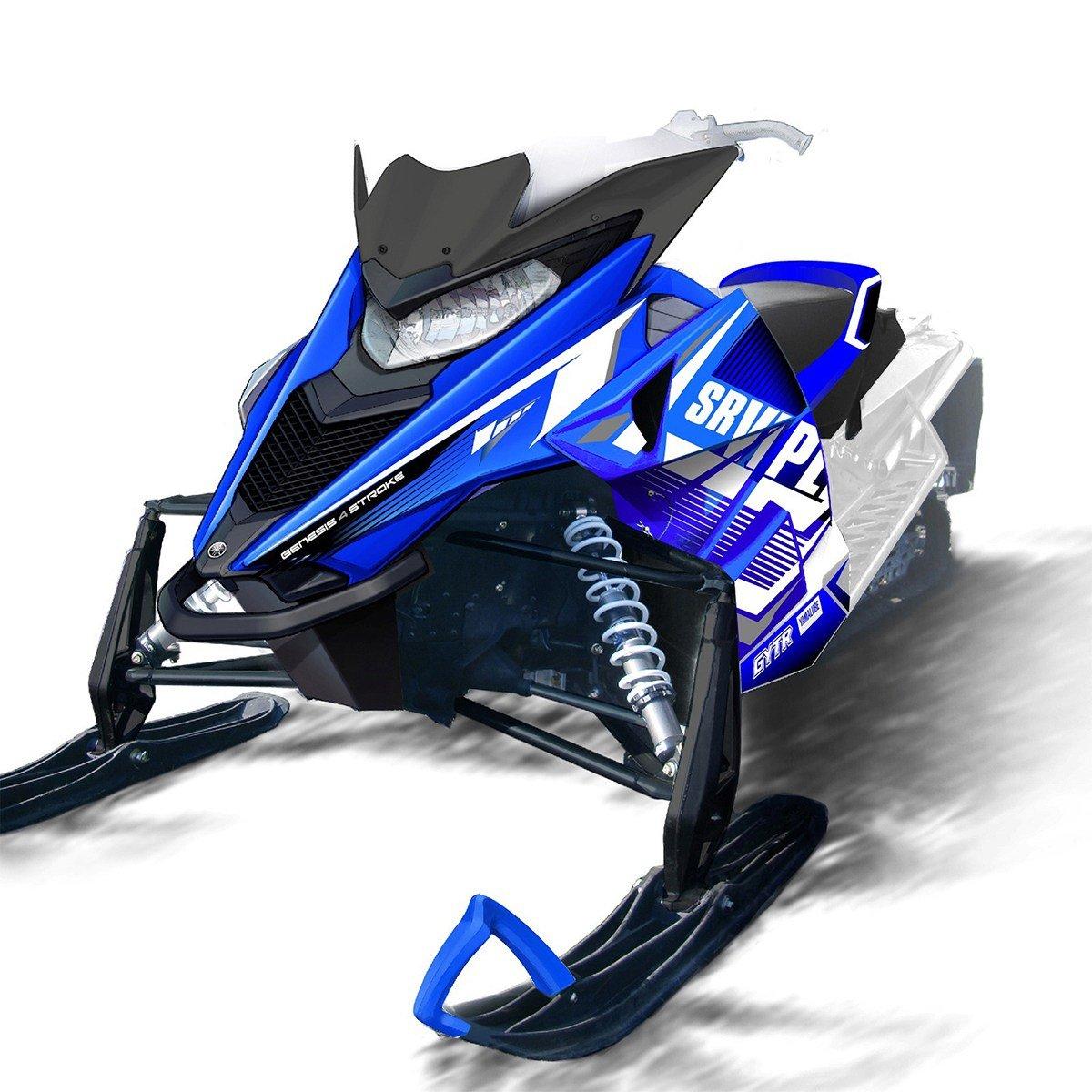Yamaha NEW OEM SR Viper Snowmobile Blue Sport Graphic Wrap by Yamaha (Image #2)