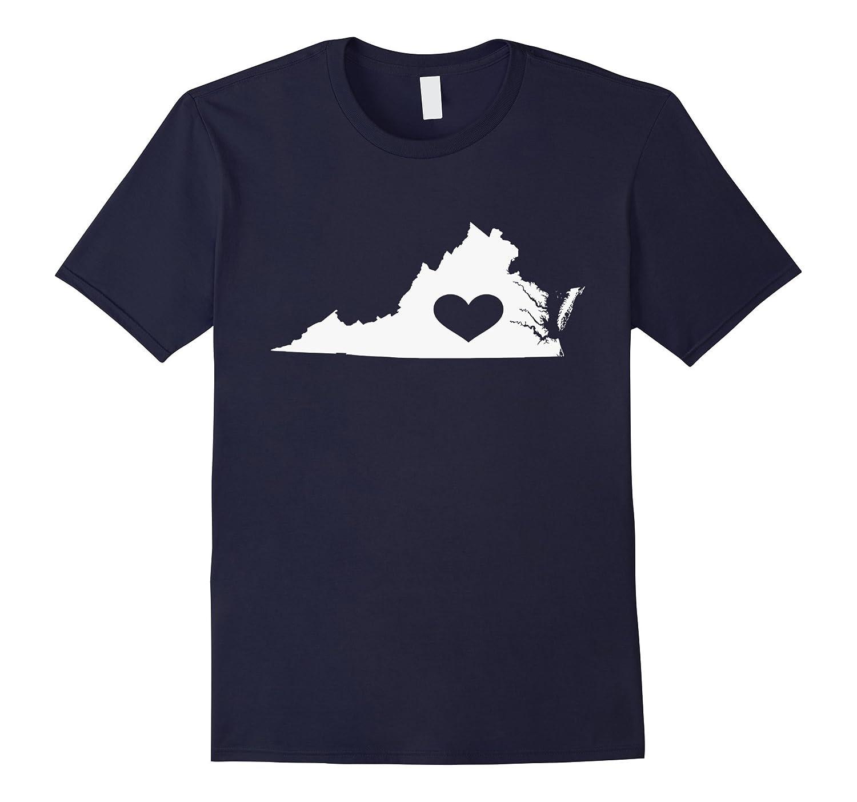 Virginia Lovers  Virginia State Heart Vintage Throwback Tee