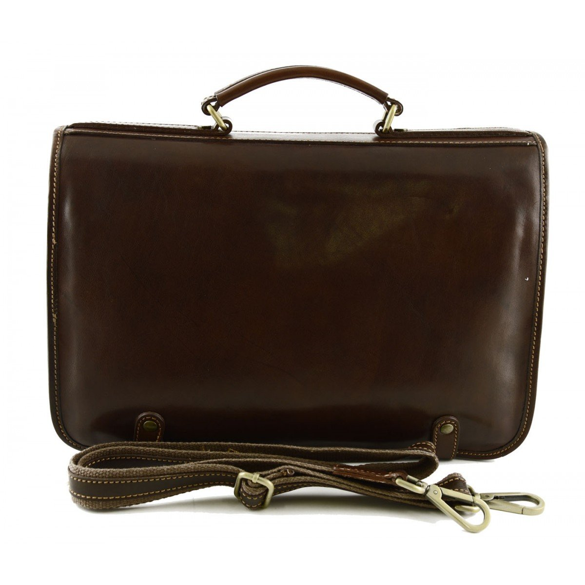 Genuine Leather Business Bag Color Brown