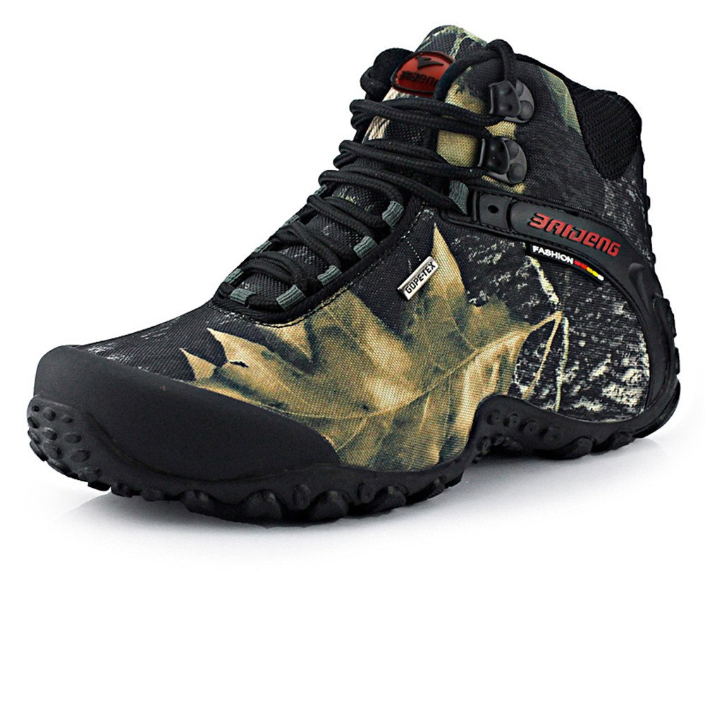 QWFXddgojDG Outdoor Camouflage Hiking Shoes Men Waterproof Army Fan high-Gang Walking Shoes