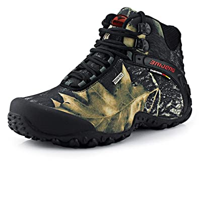 Outdoor camouflage hiking shoes men waterproof army fan high-gang walking shoes