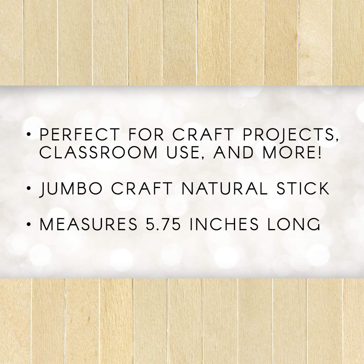Darice 9150 85 80 Piece 5 frac34; inch Jumbo Natural Finish Craft Sticks