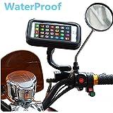 Ajustable Soporte universal motocicleta teléfono móvil de 360? Garmin GPS Soporte para ATV Scooter giratorio Motocicleta Espejo Retrovisor Soporte para iPhone 6S/6/5S/4S/iPod/GPS/MP4/Samsung S7/S6/Edge etc.