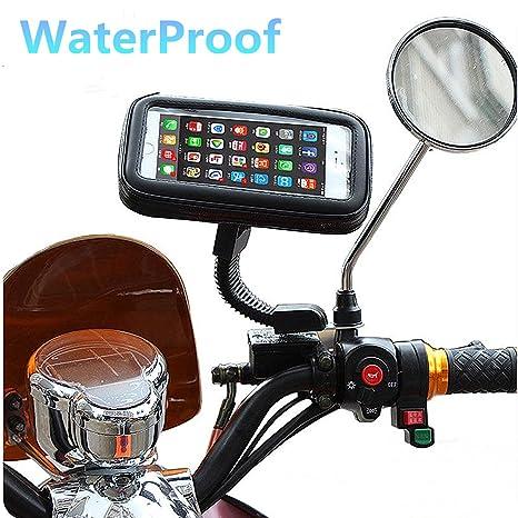 Ajustable Soporte universal motocicleta teléfono móvil de 360? Garmin GPS Soporte para ATV Scooter giratorio