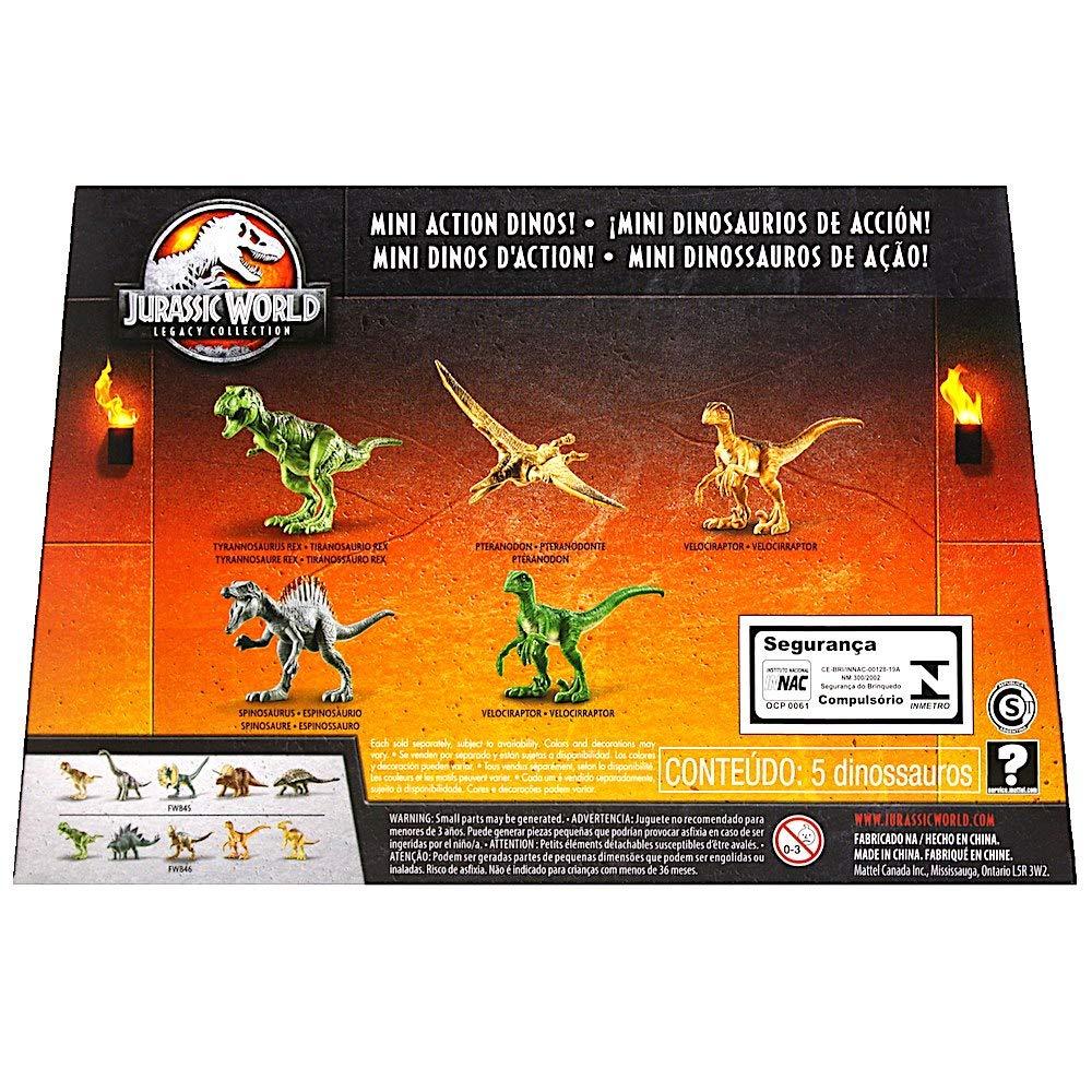 Mini Dino 5 Pack Dinosaurs 2.5 Jurassic World Legacy Collection with Spinosaurus Jurassic World Dinosaur