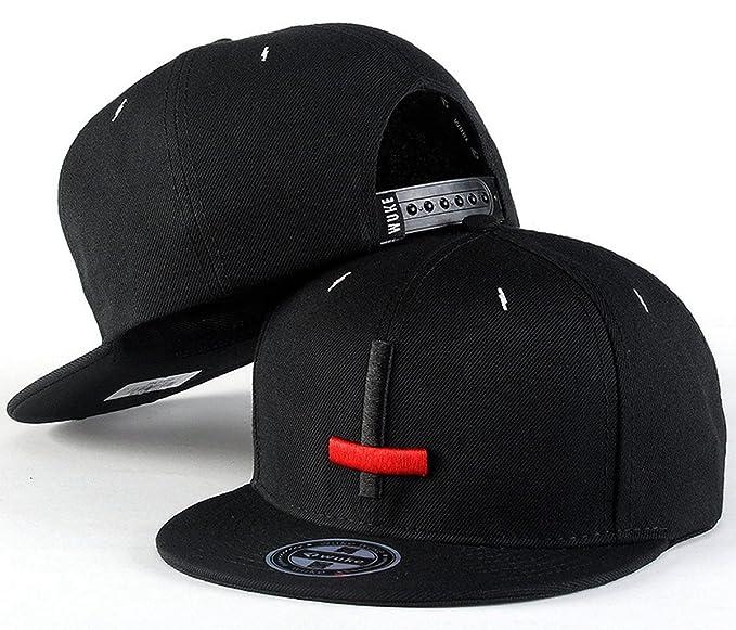 Aivtalk - Negra Gorra de Béisbol Unisex Sombrero Plano con Bordado de Cruz  Accesorios Para Hombre Mujer Parejas Hip Hop Snapback  Amazon.es  Ropa y ... 5040ae3d5ae
