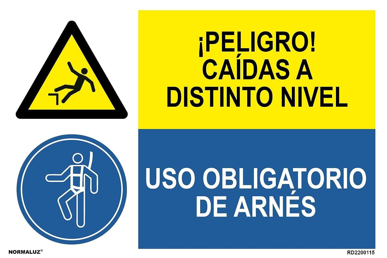 Normaluz PRD2200115 - Señal Combinada Homologada ¡Peligro! Caidas ...