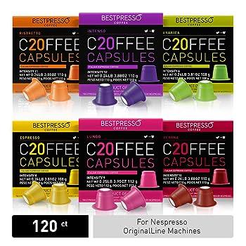 Bestpresso Coffee for Nespresso OriginalLine Machine (120 pods)